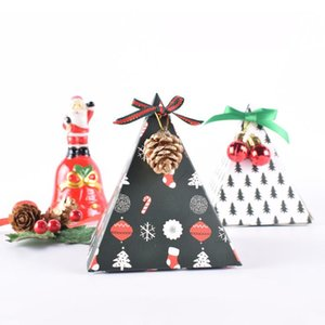 Christmas candy paper packaging flower gift box party favors Christmas folded paper color boxes Xmas decorations for home