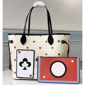 Последние Женские Сумки M57462 Франция Стиль Женщина Томаты Покер Любовь Симпатичные Дизайн Размер 31x28x14cm Модные сумки
