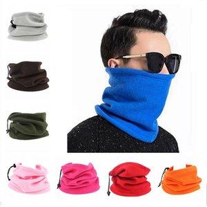 Флис маска для лица Женщины Мужчины Многофункциональный Спорт Велоспорт Трубу шарф Теплая зима Hat Neckercheif 3 в 1 Скорректированный Шляпы Ski Mask F10901
