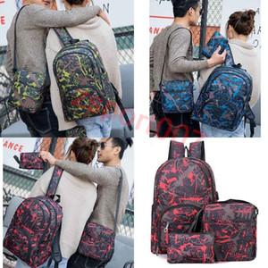 Heiße Outdoor-Taschen Tarnung Tarnung Rucksack Computertasche Oxford Bremskette Mittelschule Studententasche Viele Farben Mix