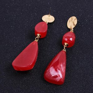 Exaggerated women's big-name resin long earrings Fashion social ladies fan jewelry Pendant wholesale