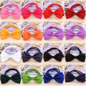 Adjustable Dog Tie 15 Colors Headdress Neck Accessory Necklace Collar Puppy Bright Color Pet Bow Free Shipping