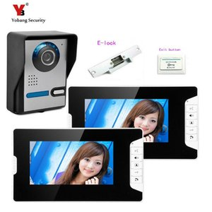 Yobang Güvenlik freeship 7 inç video interkom ve kapı zili telefon intercom sistemi IR Gece Görüş Kamerası 1V2 + Elektrikli kilit