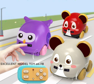 Children Cartoon Animal RC Car, Cute Mouse& Eagle, Follow Function, Auto Obstacle Avoidance, Music& Lights, for Xmas Kid Birthday Gifts, 2-1