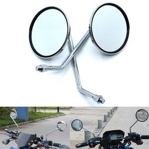 Universal motorcycle mirror chrome round mirror motorcycle rearview mirror for Kawasaki ZX6R ZX636 ZX10R Z1000 Z750R Z1000SX