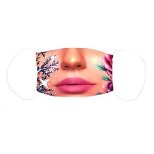 8 Styles Sexy Lips Designer Face Masks 3D Printing Protective Mask Dust and Haze with PM2.5 Breathable Face Mask free shipping K