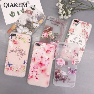 Flower Case For iPhone 12 11 Pro Max XS XR X 8 7 6 6S Plus SE 3D Relief Rose Floral Phone Cases Soft Silicone TPU Cover