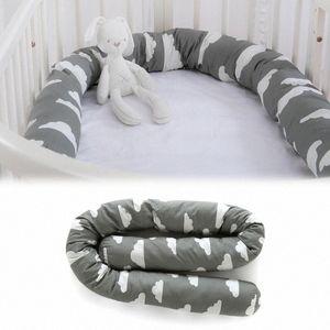 Baby Bed Bumper Snake 79 Inch Crib Bumper Cloud Pattern Crib Pillow Toddler Newborn Bed Sleep kBHw#