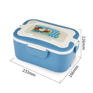 Portable Electric Lunch Box Stainless Steel Inner Pot Lunch Box Set Portable Heated Food Warmer Box 12V 24V 220V for Car Truck