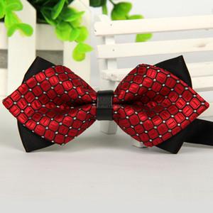 Mode Mannes Verlobung Hochzeit Krawatten elegantes Kleid Einstellbare Fliege kariertes Muster Business-Anzug Hemd Bowtie Art und Weise wird und sandig neue