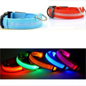 LED Pet Dog Collar Night Safety Flashing Pets Collars Glow In The Dark Dog Leash Dogs Luminous Fluorescent Collars Pet Supplies GGA2619