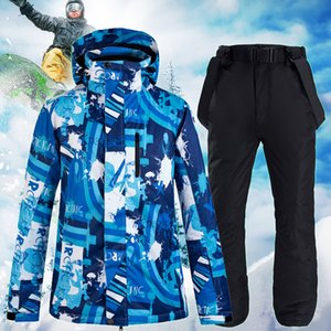 Skiing clothing men's Snowboard clothing coat suit trousers winter hot sportswear waterproof clothing outdoor skiing equipment