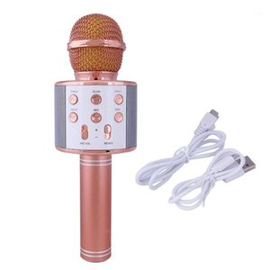 Bluetooth Karaoke Microphone Wireless Microphone Professiona Speaker Handheld Microfone Player Singing Recorder Mic1