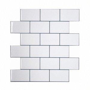 Vividtiles más gruesa blanca metro Azulejos despegar y pegar azulejos de la pared palo en Entrepaños de cocina para el parachoques 1 Hoja ZWID #