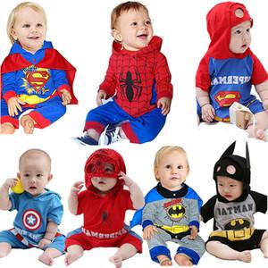 Детские Super Hero одеваются Ромпер Малыш Человек-паук Onesie младенца Bat Man Комбинезон Baby Boy мультфильм печати Наборы Baby Girl одежда 201027