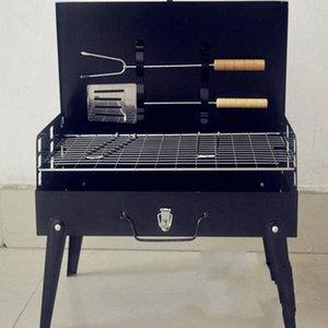2017 begrenzte Förderung Schwarz 3-5 Personen nicht beschichtet Guss 3c Outdoor-Grill Koffer Grill Portable Zubehör Camping Supplies zytp #