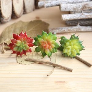Mini Fake Succulents Plants Aloe Artificial Succulent Plants Landscape Stems Flowers Ornaments For Home Garden Decor