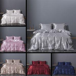 Imitación de seda de seda Artículo King Tamaño Ropa de cama Conjuntos de edredones NUEVO conjunto de tres piezas Cubierta de edredón Cubierta de cama 74XN3 K2