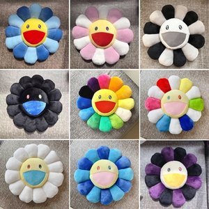 40cm-60cm Kawaii Kaikai Kiki Cushion Sunflower Pillow Soft Flower Stuffed Doll Plush Toy Cushion Gift Sunflower Cushion LJ201126
