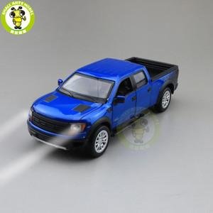 1/34 فورد F150 F150 رابتور شاحنة بيك أب دييكاست نموذج سيارة ألعاب للأطفال الأطفال الإضاءة الصوت سحب الهدايا العودة بوي فتاة