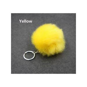 Christmas Gift Artificial Rabbit Fur Ball Plush Fuzzy Fur Key Chain Pom Pom Keychain Car Bag Keychain Key Ring Pendant Jewelry F jllSIF