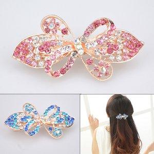 Coreano Top Pequeno Primavera Broca de Água Cavalos Cavalos Clipe Cabeça de Cristal Ornamento Inlague Diamante Hairpin Horizontal