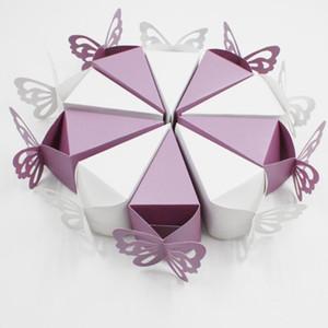 50pcs peal lumière papillon style préférable cadeau Candy Cake Boîtes pour une fête d'anniversaire de mariage Douche Baby Douche de haute qualité Cake Cake Cake1