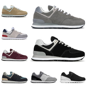 Nuovi New Balance 574 NB shoes uomini donne scarpe da corsa Marbled Street Grey Day Borgogna Nero Rosso Rosa scarpe da ginnastica da uomo Outdoor Sneakers sportive traspiranti