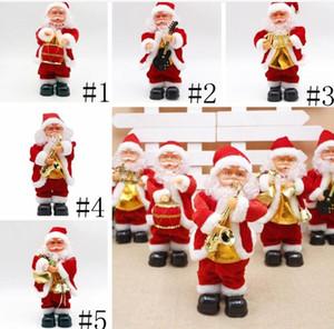 الرقص سانتا كلوز عيد الميلاد دمية الكهربائية بابا نويل لعبة كهربائية الموسيقى سانتا كلوز لعبة عيد الميلاد حزب زينة عيد الميلاد هدايا OWD177