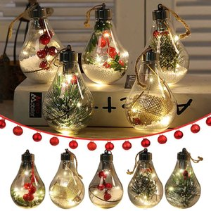 Transparent Gift 5pcs Festival Pendant New Led Hollow Ball For Christmas Tree Decoration Ornaments 202