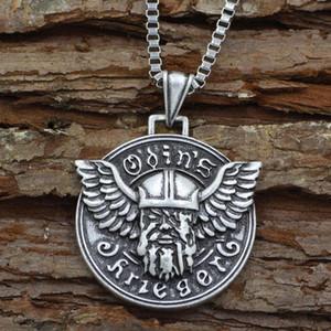 Youne Shone Mens Norse God Viking Odin Ciondolo collana gioielli amuleti