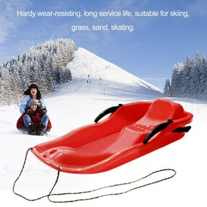 Outdoor Ski Pad Snowboard 7 Color Sports Plastic Skiing Boards Sled Luge Snow Grass Sand Board With Rope For Double People