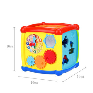 Multifunctional Musical Baby Toys Box Electronic Gear Clock Geometric Blocks Sorting Educational Toy For Children Gifts