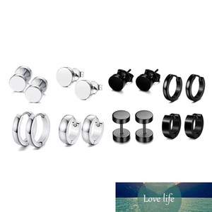 4 Pairs Set Unisex Stainless Steel Punk Earrings Hip Hop Rock Gothic Ear Studs