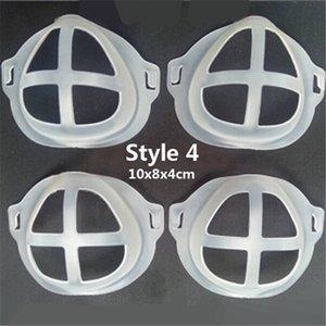 3D Silicone Mask Bracket Rossetto Protezione Stand Supporto per la bocca Mascherina Pad Cuscino Inner Cuscino Supporto Bushing Masks Tool Accessory GWC3152