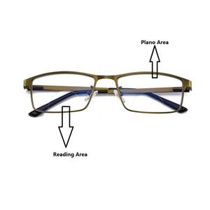 Men's Bifocals Photochromic Reading Glasses Color Change Lens Eyeglasses Transition Outdoor Driving Sunglasses Metal Frame Reader +1.0~+3.5