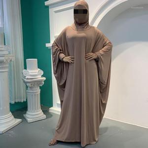 Muslim Prayer Garment Abaya Women Hijab Dress Burka Niqab Islamic Clothing Dubai Turkey Formal Namaz Long Khimar Jurken Abayas1