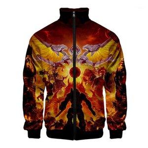 2020 Горячая распродажа игра Doom Eternal Zipper Толстовка повседневная толстовка Весна Осень Одежда Толстовка Мода Cool Highstreet1