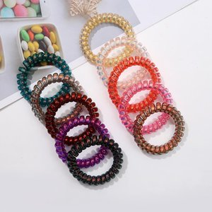 colored Phone Coil Plastic Hair Band Spring Hair Ring Telephone Line Hair Circle Ponytail Holder Manufacturer Wholesale