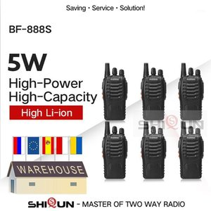 6PCS Baofeng BF-888S Walkie Talkie 888s 5W 400-470MHz UHF BF888s BF 888S H777 Cheap Two Way Radio USB Charger1