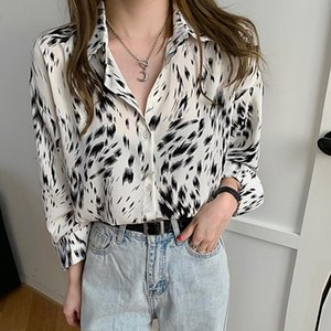 Chiffon Print Shirts Blouses Women Fashion Casual Tops Female Long Sleeve Blouse Office lady Style Top