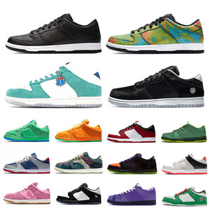 Nike SB Dunk Dunk Kasina Zivilist Low Mens Plattform Laufschuhe Chicago Orange Bär Gemeinschaftsgarten 10-jähriges Jubiläum Frauen Männer Trainer Sport Turnschuhe