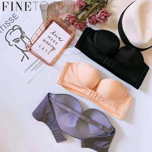 Finetoo Evening Dress Front Buckle Design Sexy and Bra Underwear Women Strapless