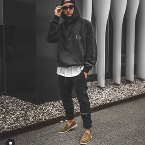 Sweatshirts Logo Of FOG Fleeced Hoodie SS20 Silicon Front Streetwear Women Hooded Essentials Casual Oversize Hoody Hip God Men Hop Fear Dlpn