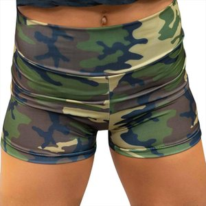 2019 New Summer Women Shorts Sexy Camouflage Breathable Slim Hip tightening Fitness Running Sports Gym Shorts 9May1013