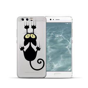 Cat cartoon LUXURY For Huawei Mate 9 10 20 30 P8 P9 P10 P20 P30 P Smart Lite Plus Pro phone Case Cover Coque Etui funda capa