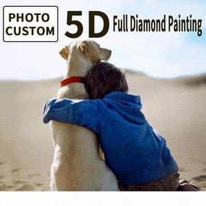 Kundenspezifische Diamant-Paintings Foto 5D Diamant-Stickerei volle rundes Quadrat DIY Abbildungs-Diamant-Gemälde volle Bohrgerät