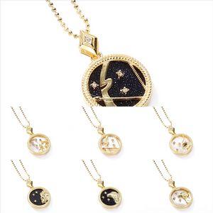 OHkUh CD needle luxury female Shell Necklace designer diamond-studded S925 pearl animal Twelve Constellations neckla clover silver