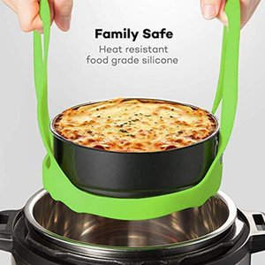 Pressure Cooker Lifter, Silicone Sling Lifter Rubber Bakeware Steamer Pressure Cooker Egg Rack Perfect Accessories Compatible wi