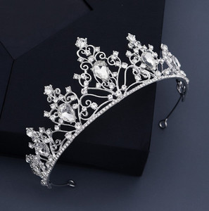 Classic crown alloy hollow water drop headdress modeling wedding dress bridal crown 111403